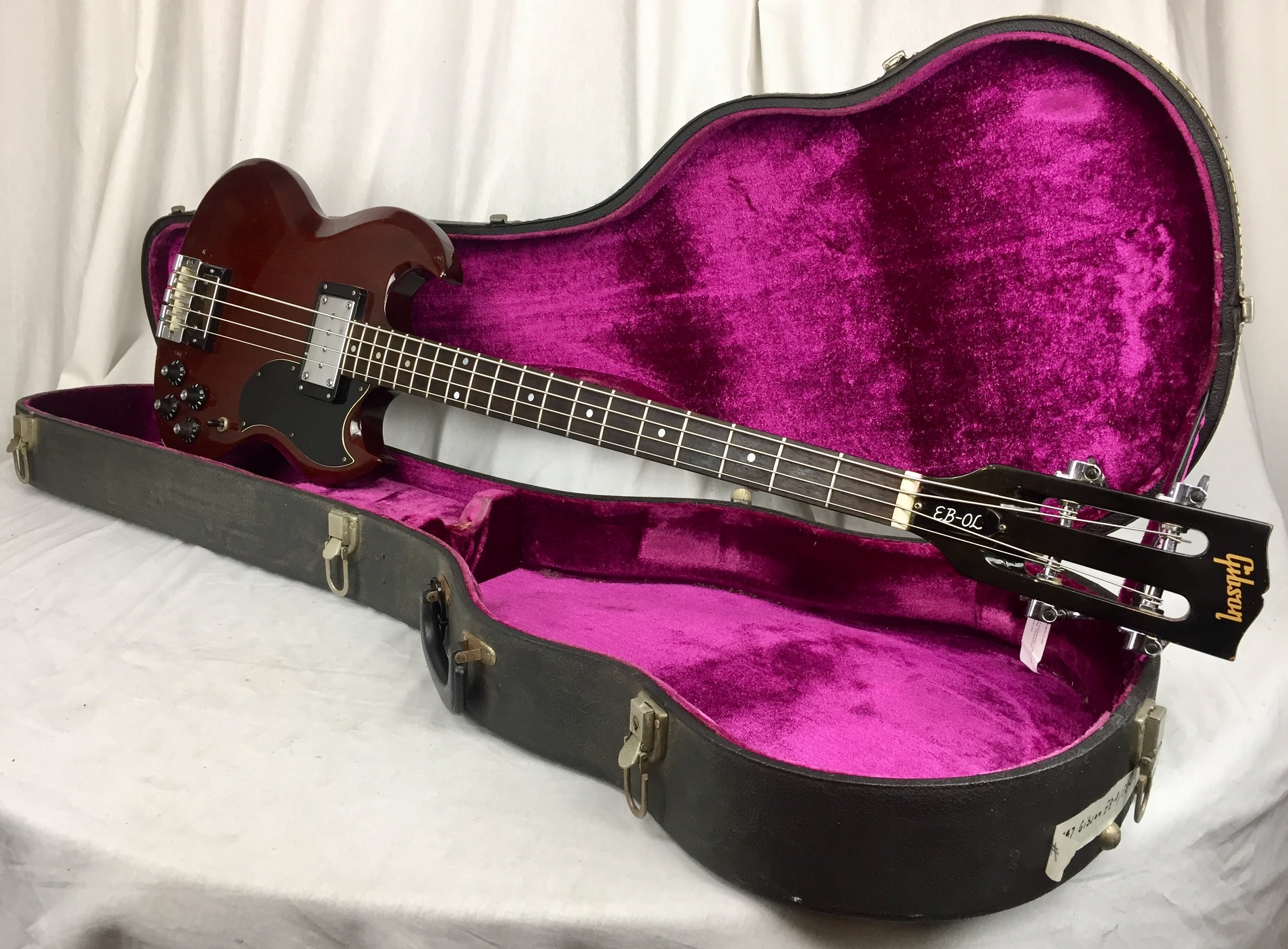 Vintage Guitars, SWEDEN - 1968 Gibson EB-0 converted to EB-3